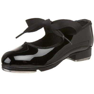 Capezio Kids Girl's Jr. Tyette N625C (Toddler/Little Kid) Black Patent Sneaker 5.5 Toddler M