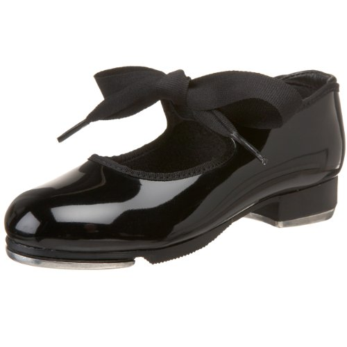 Capezio Jr.Tyette N625C Tap Shoe (Toddler/Little Kid),Black Patent,12 M US Little Kid (Childs Tap Shoes)