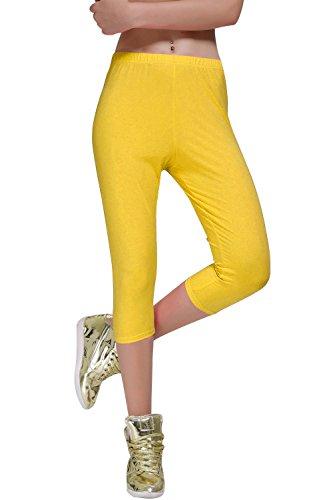 Yellow Cropped Pants - 8