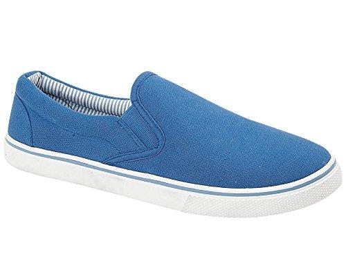 Foster Footwear Baskets Mode Pour Homme - Bleu - Bleu Marine, 41.5