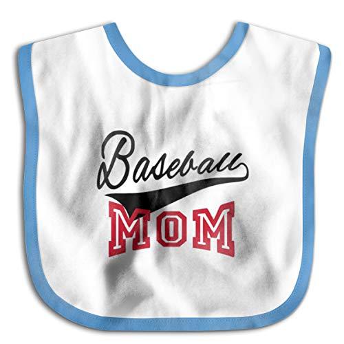 Nutmix Breathable Newborn Baby Baseball Mom Adjustable Bibs Blue