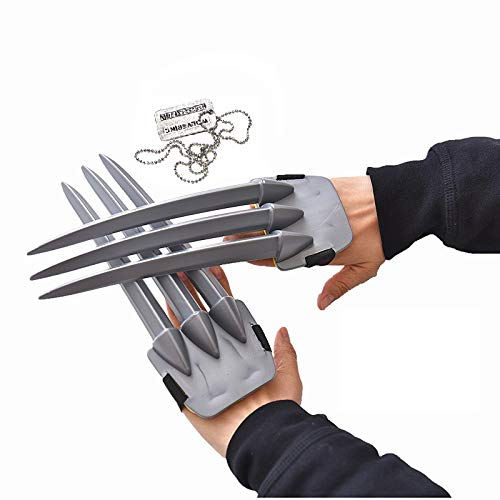 THEE 1 Pair Wolf Claws Toy Halloween Costume Cosplay Prop
