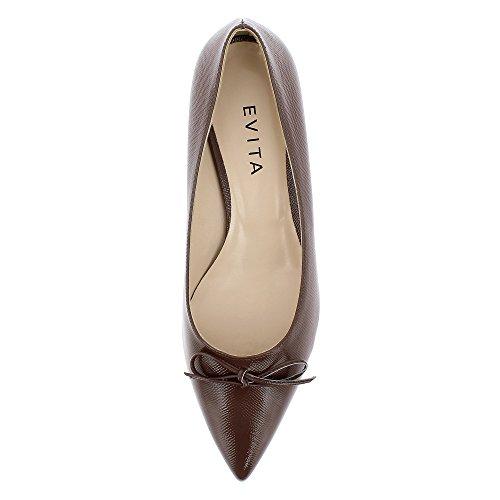 Zapatos vestir mujer marrón de Shoes para de Franca Evita Piel wBpqEfIx