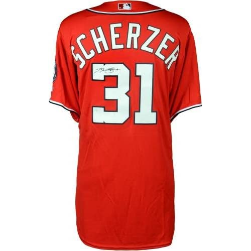 official photos fdece a8eed well-wreapped Max Scherzer Washington Nationals Autographed ...
