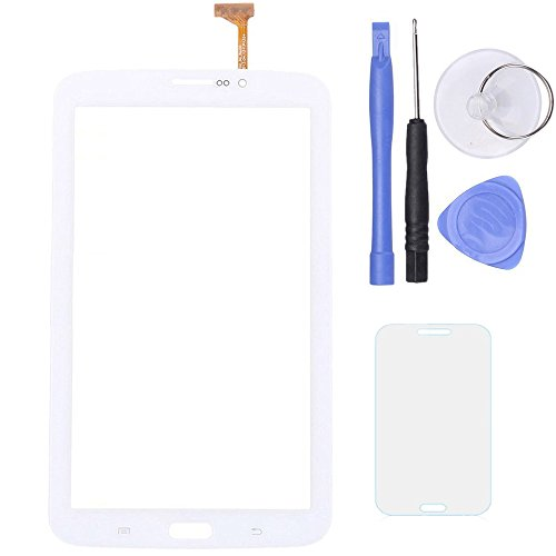 SPHENEL Digitizer Touch Screen for Samsung Galaxy Tab 3 7.0 T211 P3200 / T210 3G Version (Digitizer With Ear Speaker Hole-White)