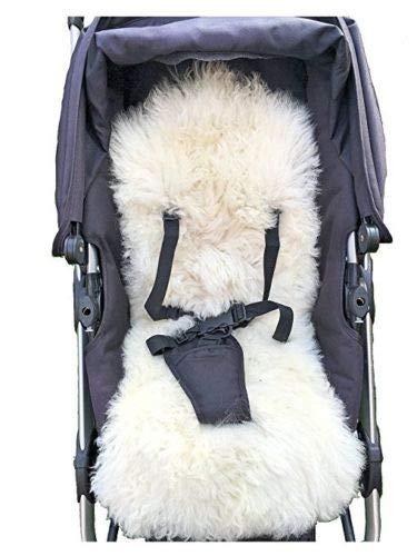 NATURAL Sheepskin Liner Cover Mat for Pushchair Buggy Pram Car Seat Bouncy Chair Swing Zumzi Baby