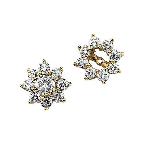 14K Yellow/White Gold 1 1/5 ct. Diamond Earring Jackets
