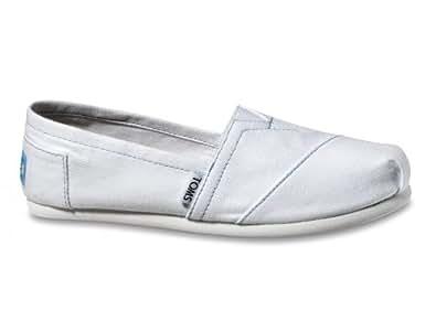 TOMS Women's Classics Shoe White Canvas Size 12 B(M) US