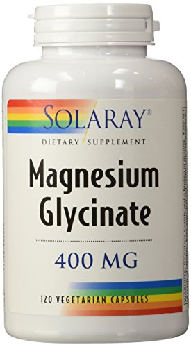 Magnesium Glycinate 400 mg (Pack of 2) Solaray 120 VCaps