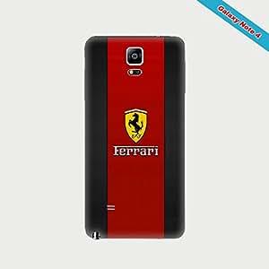 NEATIK Carcasa Galaxy Note 4Fan del Logo Ferrari