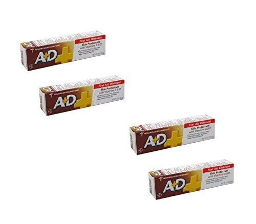 A+D First Aid Ointment Skin Protectant with Vitamin A&D 1.50 oz, 2 Count (2 Pack)