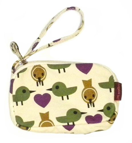 Natural Cotton Shoulder Bag (Bungalow360 Vegan Natural Cotton Clutch/Purse (Bird))