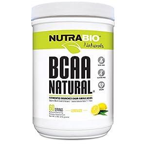 NutraBio BCAA Natural Powder 60 Servings (Lemonade)