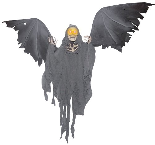 Flying Prop Reaper With Wings (Animated Flying Reaper Halloween)