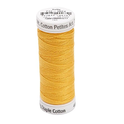 (Sulky Of America 12wt 2-Ply Cotton Thread, 50 yd, Golden)