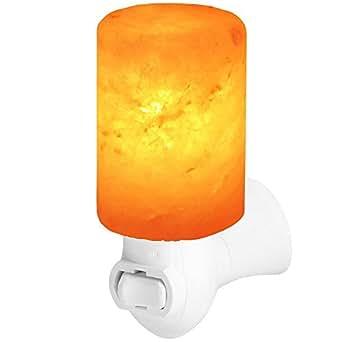 Salt Lamp, GRDE Natural Crystal Himalayan Salt Stone Light Night Light (Cylinder)