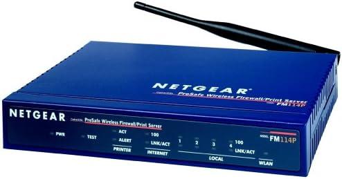 NETGEAR FM114P GR ProSAFE-Wireless-Firewall-Router mit Printserver ...