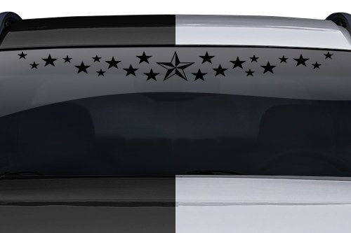 Sticky Creations - Design #103-01 Stardust Nautical Star Dust Windshield Decal Sticker Vinyl Graphic Rear Window Banner Tailgate Car Truck SUV Van Boat Trailer Wall | 36