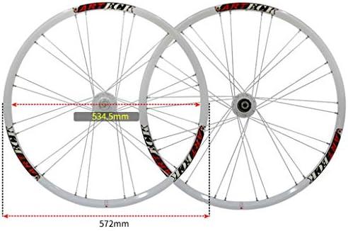 """GXFWJD 自転車ホイールセット 26"""" MTB ダブルウォールアロイリム タイヤ1.5-2.1"""" ディスクブレーキ 7-11速度 シールドベアリングハブ クイックリリース 4色"""