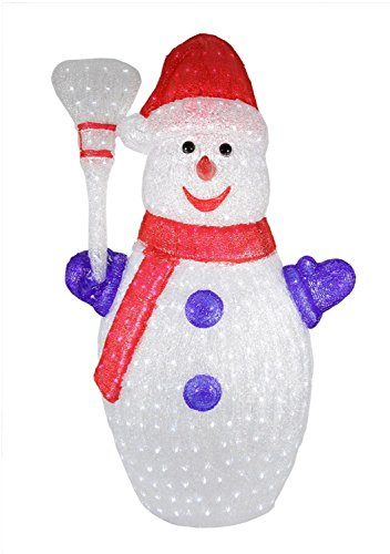 Large Outdoor Acrylic Snowman Light