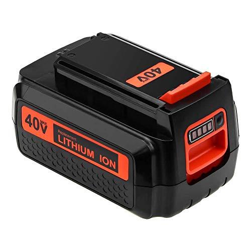LBX2040 Replace for Black and Decker 40V MAX Battery 2.5Ah LBX1540 LBXR2036 LBX36 LBXR36 LCS1240 LSWV36 36V/ 40 Volt Lithium ion Battery Cordless Tool-1Pack