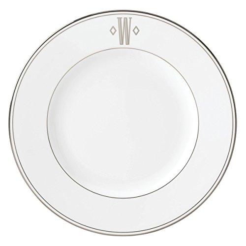 Lenox Federal Platinum Dinner Plate - Lenox Federal Platinum Block Monogram Dinnerware Dinner Plate, W