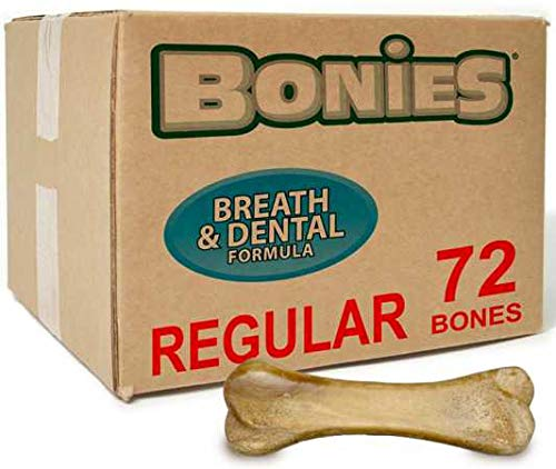 BONIES BULK BOX Natural Dental Bones 72 Regular Bones