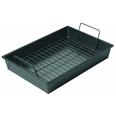 Chicago Metallic Non-Stick Roast Pan with Non-Stick Rack, 13 x 9 x 2.2 inches