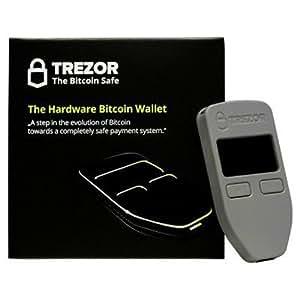 Trezor Grey bitcoin hardware wallet compatible with bitcoin, dash, zcash, ethereum