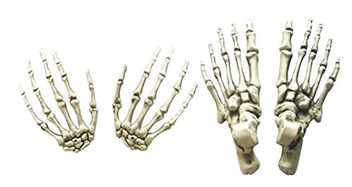 Giftower Set of 2 Pairs Halloween Plastic Hands and feet for Halloween Decoration -