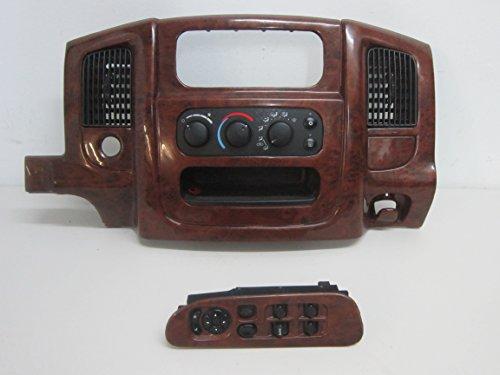 02 03 04 05 DODGE RAM 1500 RADIO BEZEL CLIMATE CONTROL WINDOW SWITCH (Woodgrain Bezel)