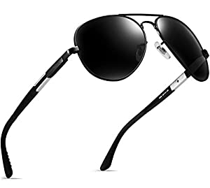 ATTCL Men's Aviator Driving Polarized Sunglasses Al-Mg Metal Frame Ultra Light