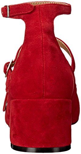 Rosso Vestito Donne Pompa Delle Rosso Chinese Laundry Moto Camoscio qA4wUE8nf