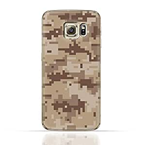 Samsung Galaxy S6 Edge TPU Silicone Case with Desert Military Camouflage Design