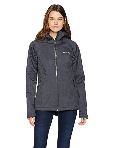 Columbia Women's Top Pine Insulated Rain Jacket, Waterproof & Breathable, Shark Melange, -