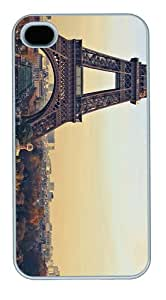 sparklycases eiffel tower background PC White Case for iphone 4/4S