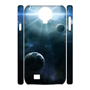 3D Vinceryshop Asteroids and Planets Case for Samsung Galaxy S4 Shock Absorbent, Phone Case for Samsung Galaxy S4 Mini Protective for Girls with White