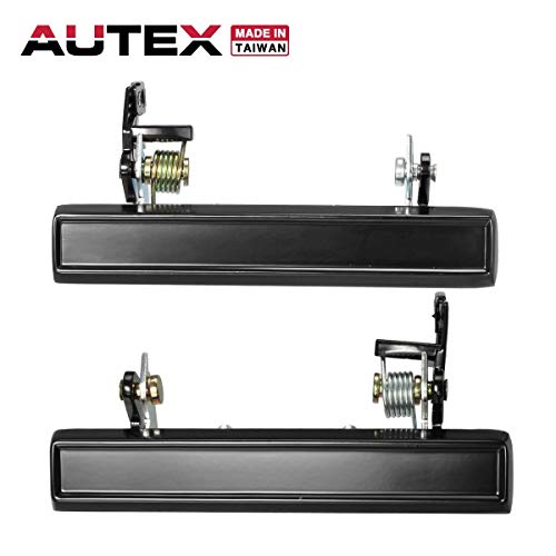 AUTEX 2pcs Front Rear Right Left Door Handle Exterior Driver Passenger Side Compatible with Chevy Monte,Pontiac Grand,Buick Regal 1983-1988 Door Handle