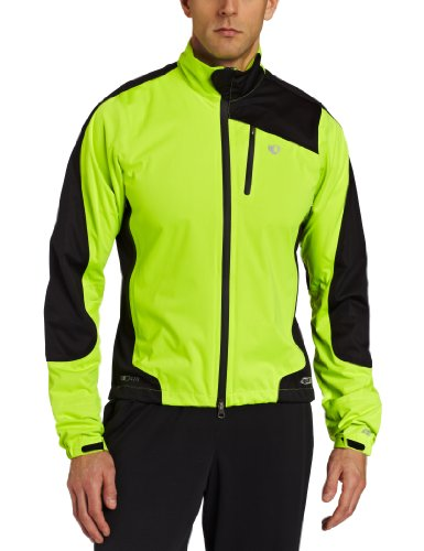 Pearl iZUMi Men's Elite Barrier WxB Jacket,Screaming Yellow/Black,Medium