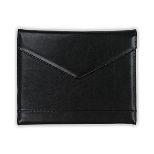 (Samsill Envelope Style Trifold Padfolio for Women – Resume Portfolio/Business Portfolio with Magnetic Closure (Black, Letter Size))