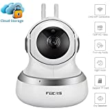 Paimeier Wireless Security Camera, Cloud Storage Live Steam Baby/Dog Monitor Night Vision HD Home Surveillance Cameras with Motion Sounds Detection Pan/Tilt