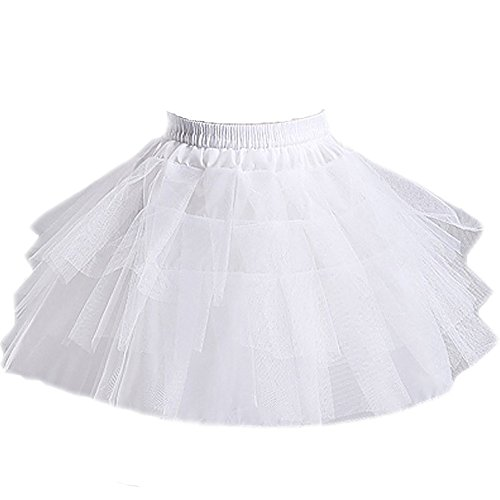 Girls 3 Layers Wedding Flower Girl Petticoat - Slip Half Petticoat