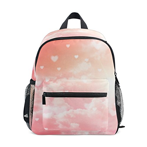 My Daily Kids Backpack Hearts Clouds Valentine's Day Wedding Nursery Bags for Preschool Children by My Daily