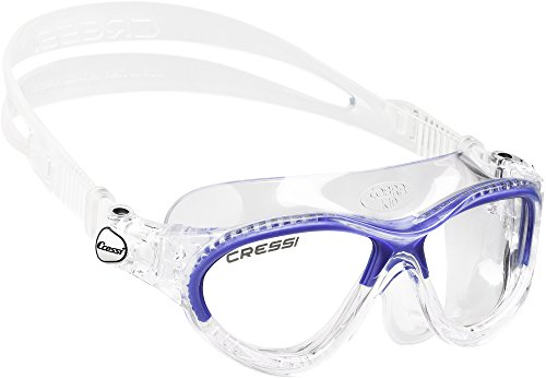 Cressi Schwimmbrille Kinder (Made in Italy) Kinderschwimmbrille Cobra Kid Transparent/Blau