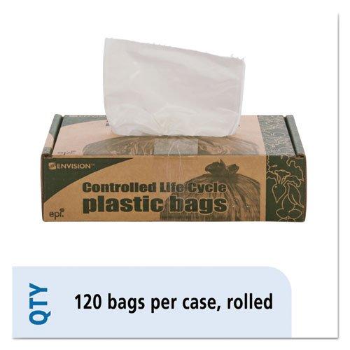 - - - - - - - eco-degradableプラスチックTrash Garbageバッグ、13 Gal、.7 Mil、2 x 30、ホワイト、120 /ボックス B00TBNPH96