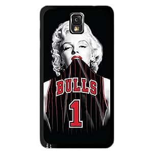 Season.C Chicago Bulls Marilyn Monroe Hard Back Case Cover for Samsung Galaxy Note 3 III N9000