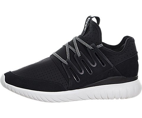 Adidas Mens Tubular Radial Running Shoes Core Black   Vintage White 10 5 D M  Us