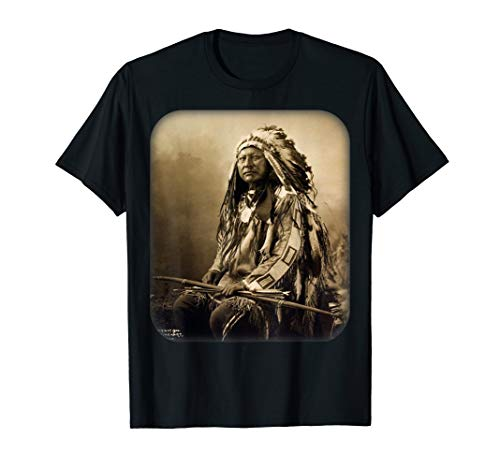 Indian Horse T-shirt - Chief Spotted Elk Lakota Sioux Native American Indian