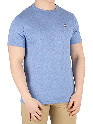 Psycho Bunny Men's Crew Neck T-Shirt, Heather Bahamas, X-Large ()