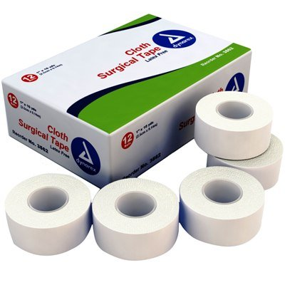 (Dynarex Corporation 3562-12 Cloth Surgical Adhesive Tape 1'' x 10 yds.)